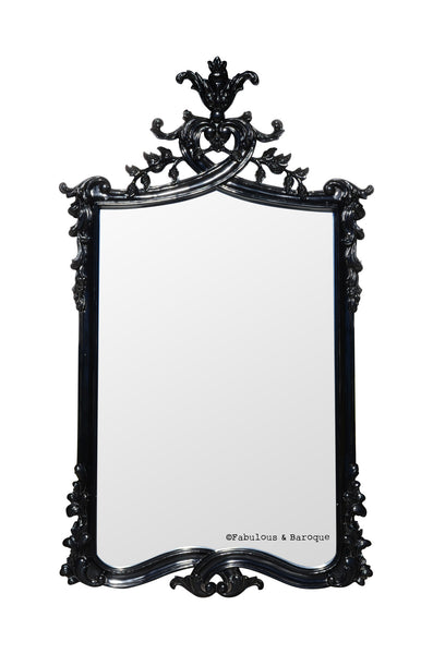 Bella Acorn Mirror- Black