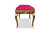 Rose du Chantilly Bench - Gold and Cherry Blossom Pink