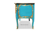 Louis XV 6ft Commode - Aqua