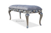 Rose du Chantilly Bench - Silver and Steel Grey
