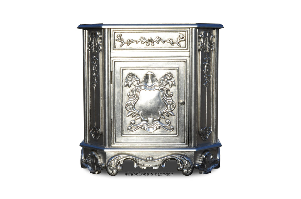 Rose du Chantilly Side Table - Silver