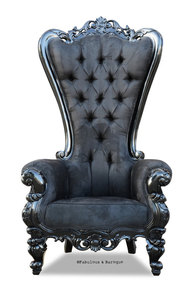 Absolom Roche Chair - Black Velvet
