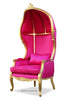Fabulous & Baroque's Victoire Balloon Chair - Gold & Fuchsia Fatale