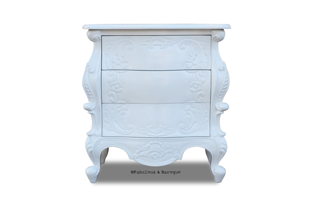 Night's Dream Side Table - White