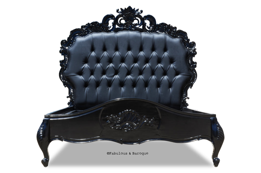 Night's Dream Tufted Bed - Black