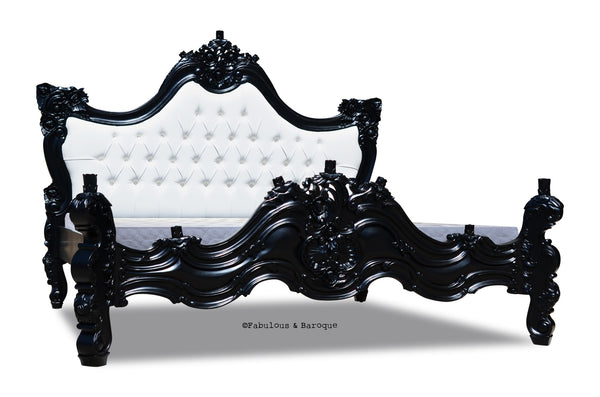 Royal Fortune Montespan Bed - Black & White