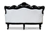 Belle de Fleur French Love Seat - Black & White