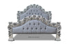 Rose du Chantilly Bed - Silver and Steel Grey