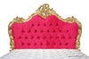 Babette Bed - Gold Leaf & Fuchsia Micro Suede