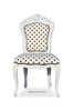Belle de Fleur Side Chair - Black & White