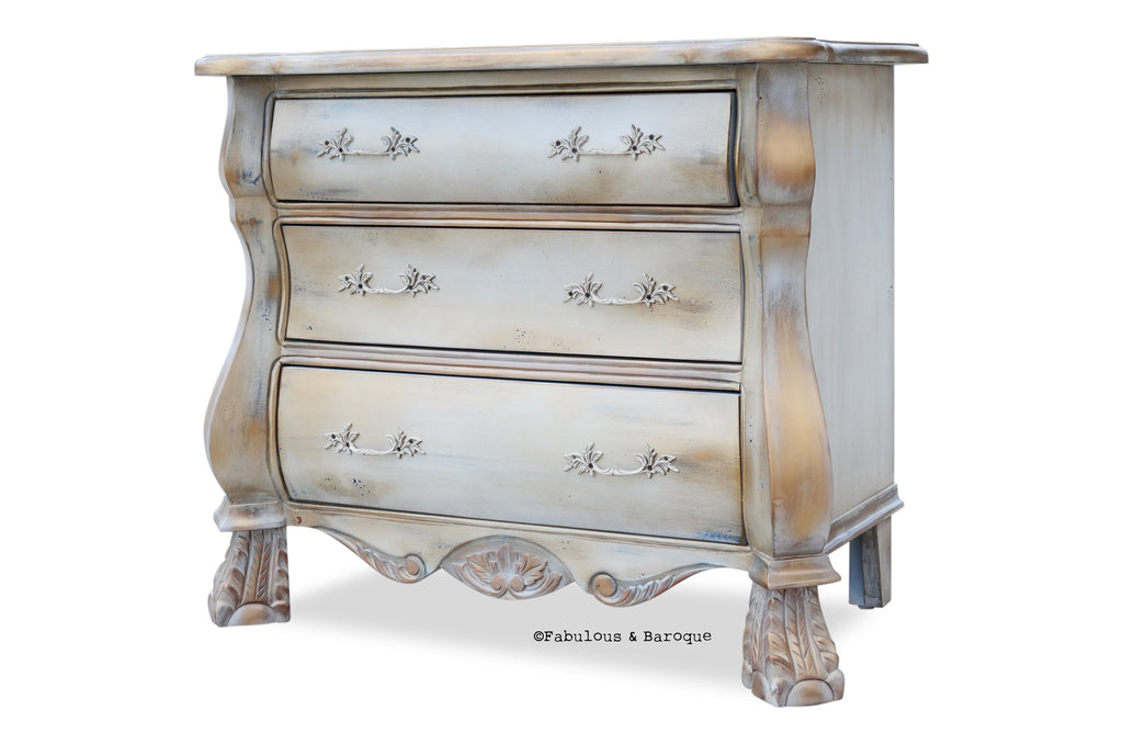 Magnus French Provincial 3 Drawer Chest - Rustic White