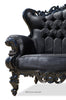 Absolom Roche Love Seat - Black
