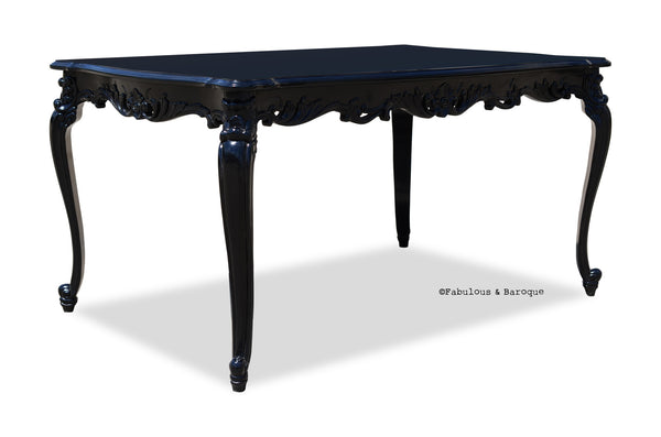 "Gryphon Reine 60""L x 40""W Dining Table - Black"