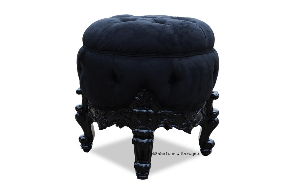 Absolom Roche Dressing Table Pouf Chair - Black
