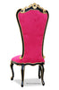 Gryphon Reine Side Chair - Fuchsia, Gold & Black