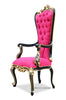 Absolom Roche Arm Chair - Fuchsia, Gold & Black