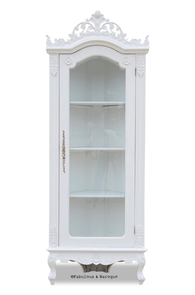 Helene French Corner Display Cabinet - White