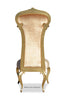 Dauphine Chair - Gold Velvet & Gold Leaf