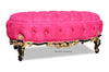 Gryphon Reine Grand Bench - Fuchsia, Black & Gold Leaf
