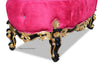 Absolom Roche Grand Bench - Fuchsia, Black & Gold Leaf