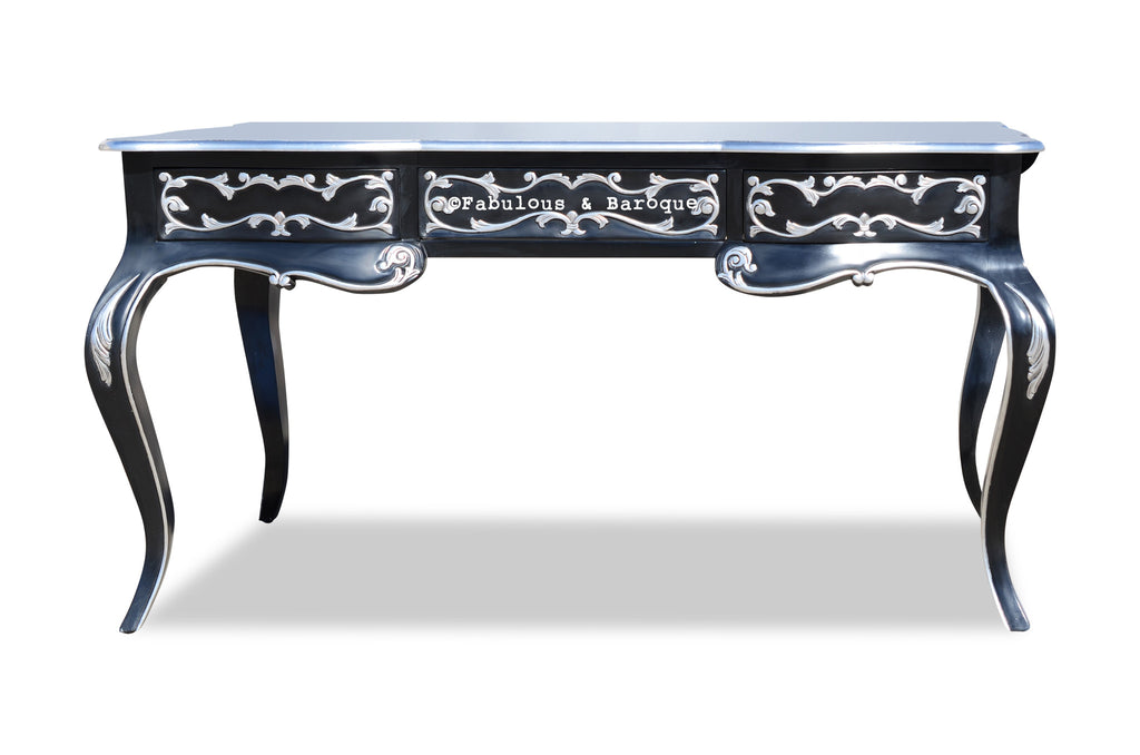 Amelie Writing Desk - Black & Silver