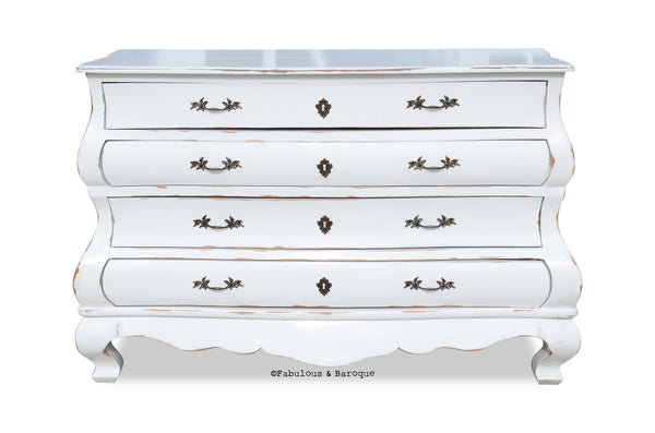 Ichabod French Provincial Chest - Rustic White