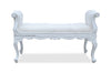 Isadora French Upholstered Bench - White