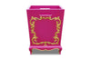 Arabella Baroque Waste Bin - Fuchsia & Gold