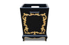 Arabella Baroque Waste Bin - Black & Gold