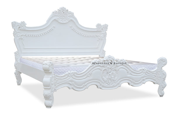 Royal Fortune Montespan Bed - White