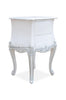 Sophia Bombay Side Table  - White & Silver