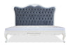 Sophia Bed - Grey Velvet & White