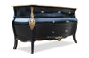 Bordeaux Bombay 5ft Chest of Drawers  - Black & Gold