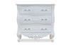 Josette 3 Drawer Carved Chest- White