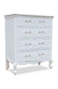 Clara Carved 4 Drawer Chest - White