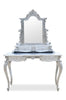Anais Dressing Table & Mirror- Silver Leaf- Client Photo
