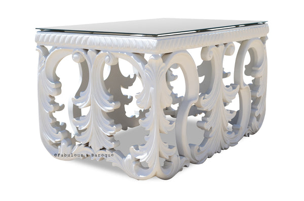 Simone Coffee Table - White - Small