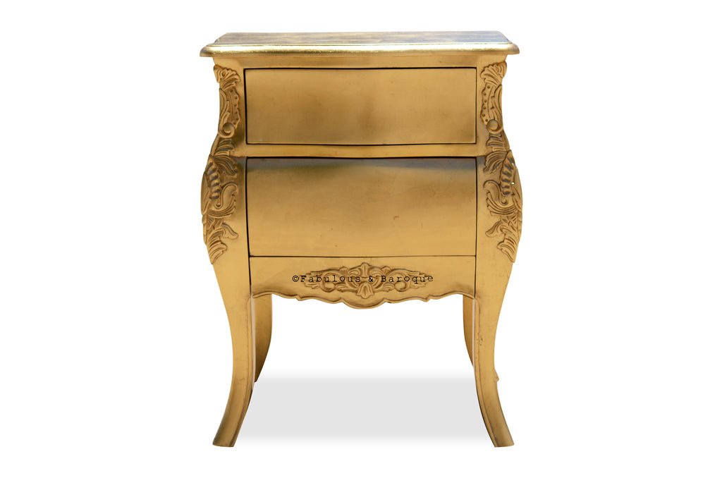 Bordeaux Side Table - Gold Leaf