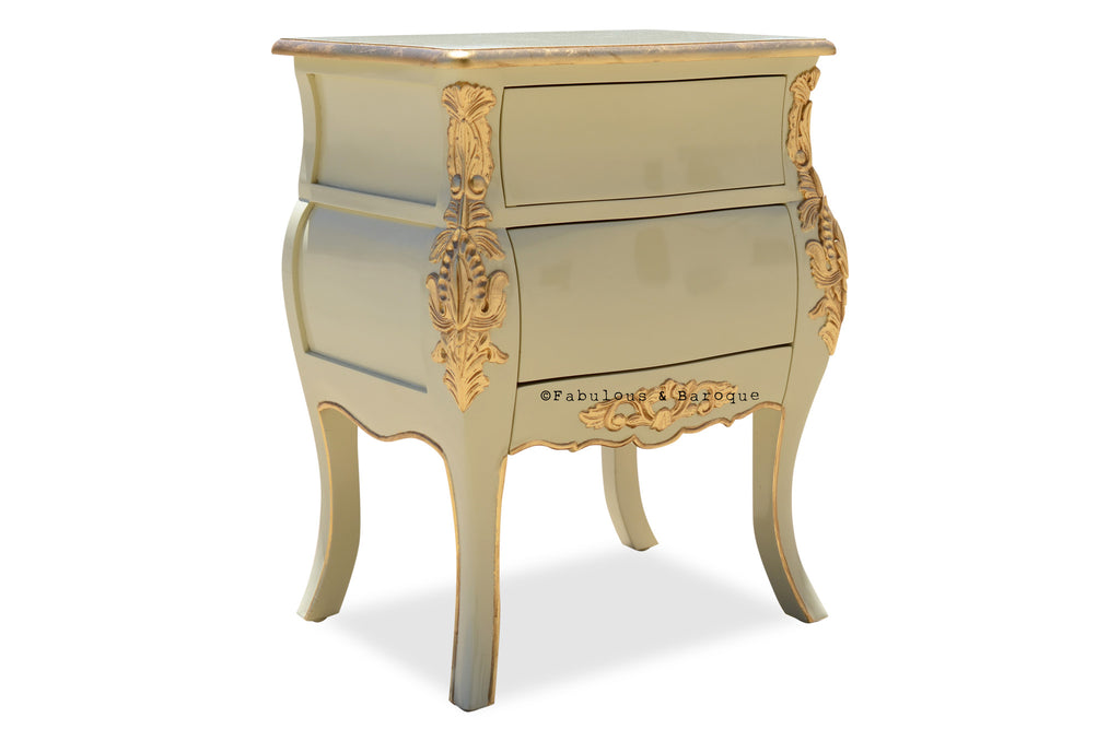 Bordeaux Side Table - Ivory & Gold