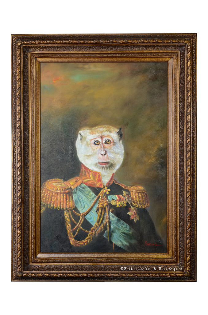 Baroque Portrait Painting - Maxwell the Monkey