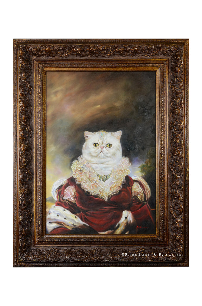 Baroque Portrait Painting - Penny the Pussycat