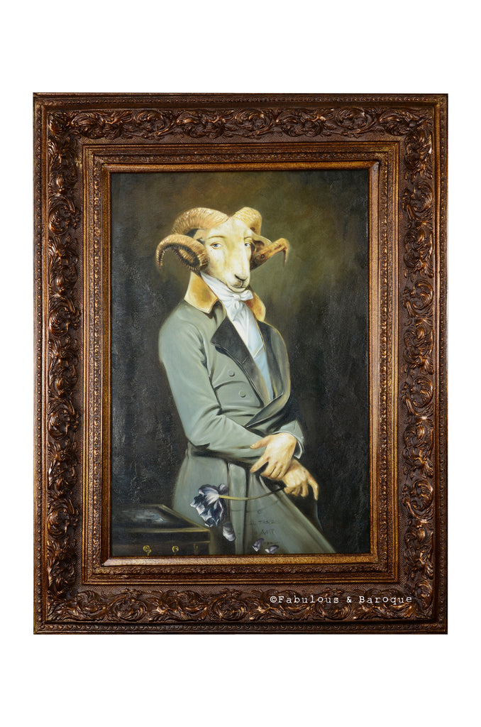 Baroque Portrait Painting - Raphael the Romantic Ram