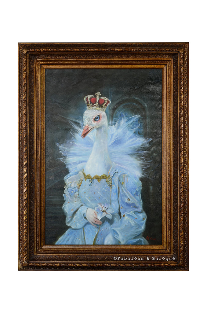 Baroque Portrait Painting - Petunia the Peacock