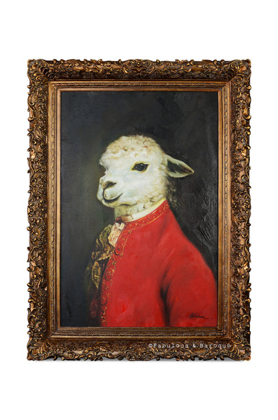 Baroque Portrait Painting - Sebastian the Sheep