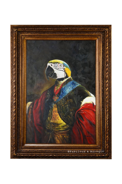 Baroque Portrait Painting - Percival the Parrot
