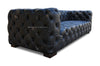 Justine Chesterfield Sofa - Blackish Brown