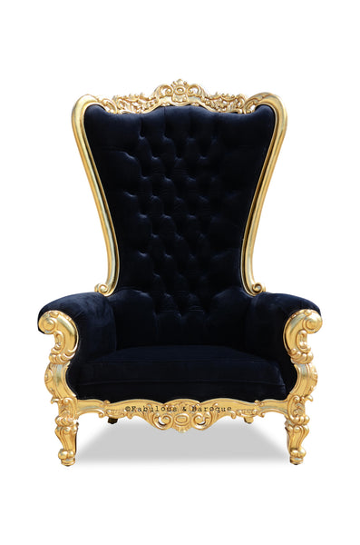 Grand Absolom Roche Chair - Gold & Black Velvet