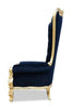 Grand Gryphon Reine Chair - Gold & Black Velvet