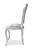Fabulous French Side Chair - Silver & Silver Velvet