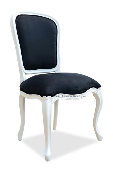 Fabulous French Side Chair - White & Black